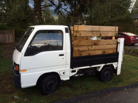 1991 Subaru Sambar Mini Pickup with Power Lift gate and 4WD for sale