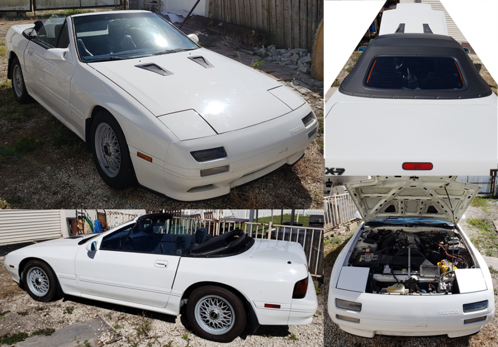 1990 Mazda RX-7 Convertible Running with Many Many Spare Parts